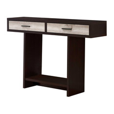 12.25-inchX 47.25-inchX 32-inch Accent Table Cappuccino Or Taupe Reclaimed Wood
