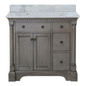 "Urquell Bathroom Vanity Set, Gray, 36"""