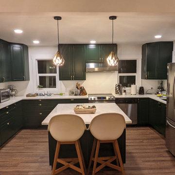 Ikea kitchen and back of island