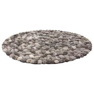 Stone Rug, Natural, 120 cm Round