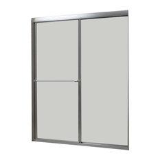 "Tides Framed Sliding Shower Door, Silver, 56-60""x70"", Rain"