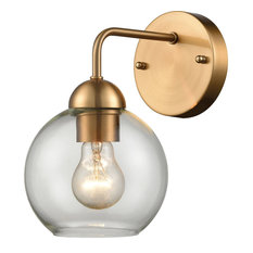 Astoria 1 Light Wall Sconce in Satin Gold