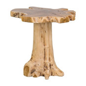 East At Main's Grafton Brown Specialty Teakwood Accent Table