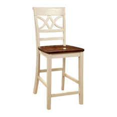 Bowery Hill 24.13-inch Counter Stool In White (Set Of 2)