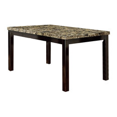 Faux Marble Top Dining Table, Multicolor