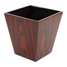 Rosewood Inlay Lacquer Waste Basket