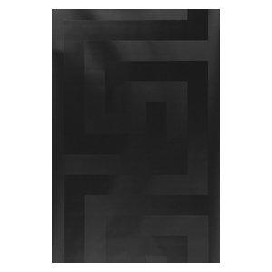 Versace Solea Black Satin Greek key Wallpaper 93523-4, 27 Inc X 33 Ft Roll