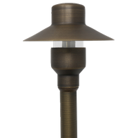 Lightkiwi Top Hat Path and Area Light For Landscape Lighting, Brass
