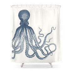 Offset Octopus Shower Curtain