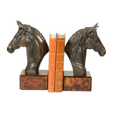 Bookends Bookend Horse Head Large Cast Resin