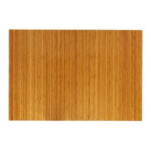 """Jovert Bamboo Roll-Up Chair Mat, Natural, No Lip, 60""""x48"""""""