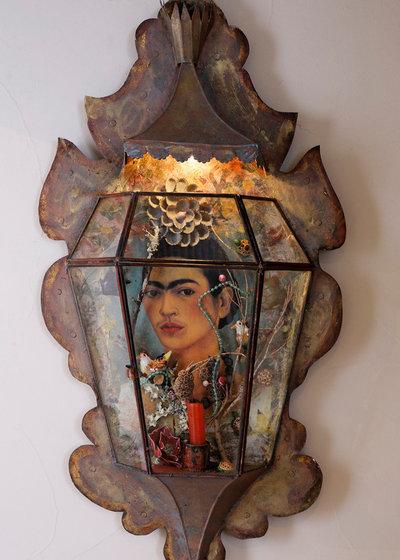 gro e kunst wohnen als hommage an frida kahlo. Black Bedroom Furniture Sets. Home Design Ideas