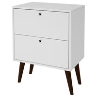 Taby 2 Drawer Nightstand In White