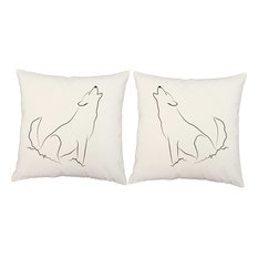 Howling Wolf Throw Pillows, In/Outdoor Covers Only