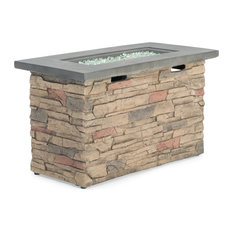 """Sego Lily Sage Stone Fire Table by Sego Lily, 42""""x20"""""""