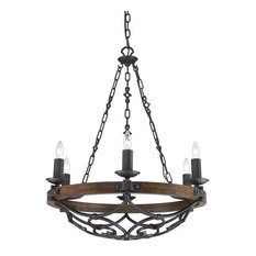 Golden Lighting 1821-6 BI 6-Light Chandelier