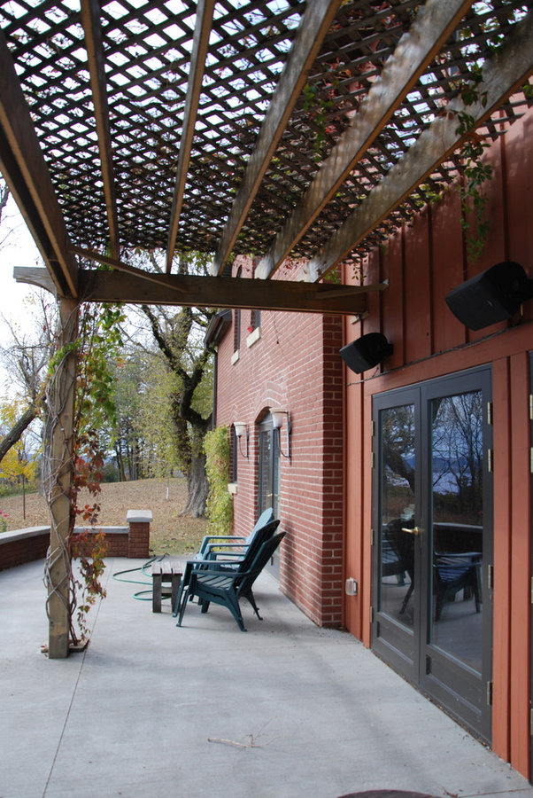 Terrace and arbor