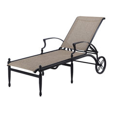 Bel Air Sling Chaise Lounge, Midnight Gold/Baron Oak