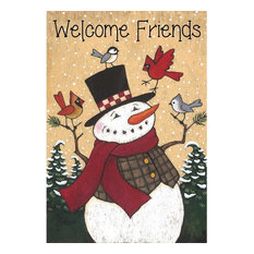 Welcome Friends Snowman, Large