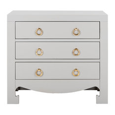 Studio Seven Dion 3 Drawer Chest Gray/Gold