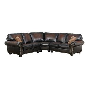 Brilliant Abbyson Living Mason Tufted Leather Reversible Sectional And Inzonedesignstudio Interior Chair Design Inzonedesignstudiocom