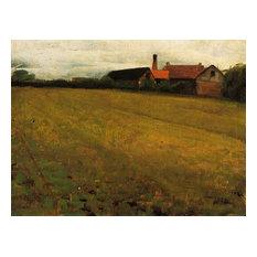"""""""Landscape With Farm Building"""" Art, 30""""x24"""""""
