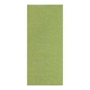 Plain Jacquard Woven Vinyl Floor Cloth, Green, 70x300 cm