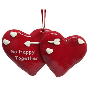 So Happy Together Lovers Christmas Ornament To Personalize #21000A