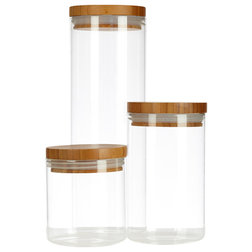 Contemporary Kitchen Canisters And Jars by Glassery