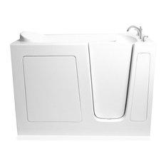 Ariel Modern Walk-In Bathtub Dual, 48x29x38, Right