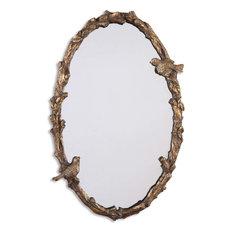 Uttermost Paza Oval Vine Gold Mirror