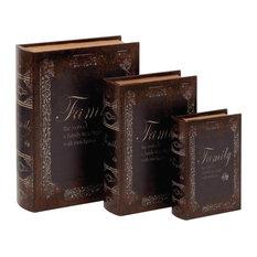 Family Tree Secret Storage Book Boxes, Set of 3