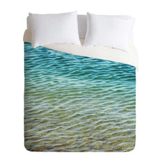 Deny Designs Shannon Clark Ombre Sea Duvet Cover - Lightweight