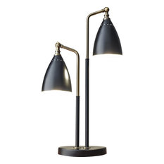 Chelsea Table Lamp - Black with Antique Brass