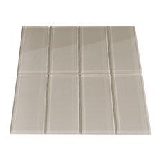 Taupe Glass Subway Tile, Sample