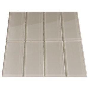 Cream Glass Subway Tile Modern Wall And Floor Tile