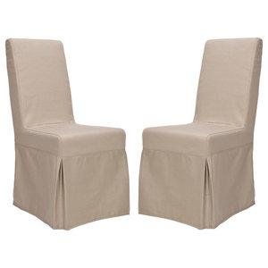 Safavieh MCR4521-SET2 Adrianna 18.7 Inch Wide Birch Accent Chairs (Set of 2)