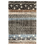 Mohawk Home - Adobe Multi Rug, 8'x10' - Totally original and full of possibility, the Adobe is truly like art for your floor. Sultry, deep hues of cocoa, charcoal, bay blue, coconut and dark earth seemingly flow across the canvas of this statement piece rug. Wonderfully woven with our premium Permastrand polypropylene fiber, this one offers dependable durability, vivid color, fade resistance and superior topical stain and soil resistance. Available in multi.