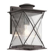 Weathered Zinc 1-Light Outdoor Wall Light, Medium