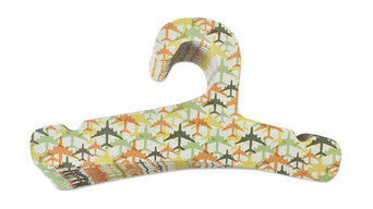 Eco-Friendly Toddler and Kid Hangers, Set of 10, Airplane Design