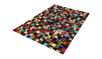 Normande Dyed Patchwork Cowhide Rug, 70x250 cm