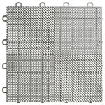 """BlockTile - 12""""x12"""" Interlocking Deck/Patio Flooring Tiles, Perforated, Sample, Gray - Sample is a piece of the tile, not a full piece"""