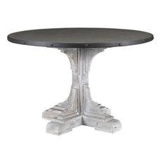 Serrano Table Whitewash And Dark Brown