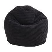 Junior Corduroy Bean Bag, Black