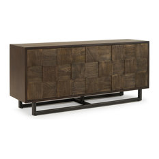 Bruce Checker Patterned Console Brown By RST Brands