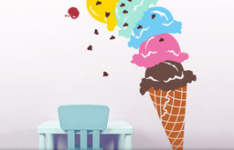 Giant Ice Cream Cone Vinyl Wall Decal by Twistmo