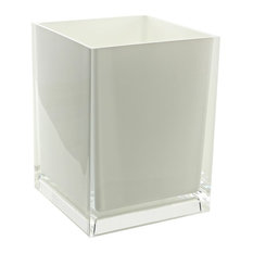 Nameeks   Free Standing Waste Basket With No Cover, White   Wastebaskets