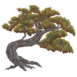 NOVICA - Bonsai Steel Wall Art, Medium - Alejandro de Esesarte depicts a bonsai tree in exquisite detail. Transforming steel into art, he cuts out the image and hammers it into low relief. The details are meticulously painted by hand.