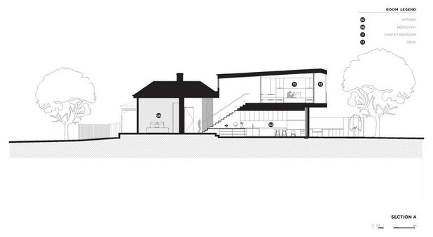Contemporary Exterior Elevation by BALDASSO CORTESE