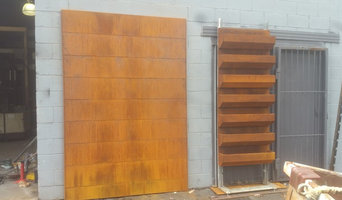 Modular walls ,planters and ponds in Corten , stainless and powder coated steel.